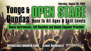 Open Stage Toronto Music Competition Jam Keyboard Drums Guitar Amps